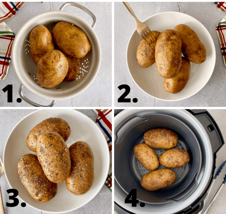 how to air fryer a potato diagram