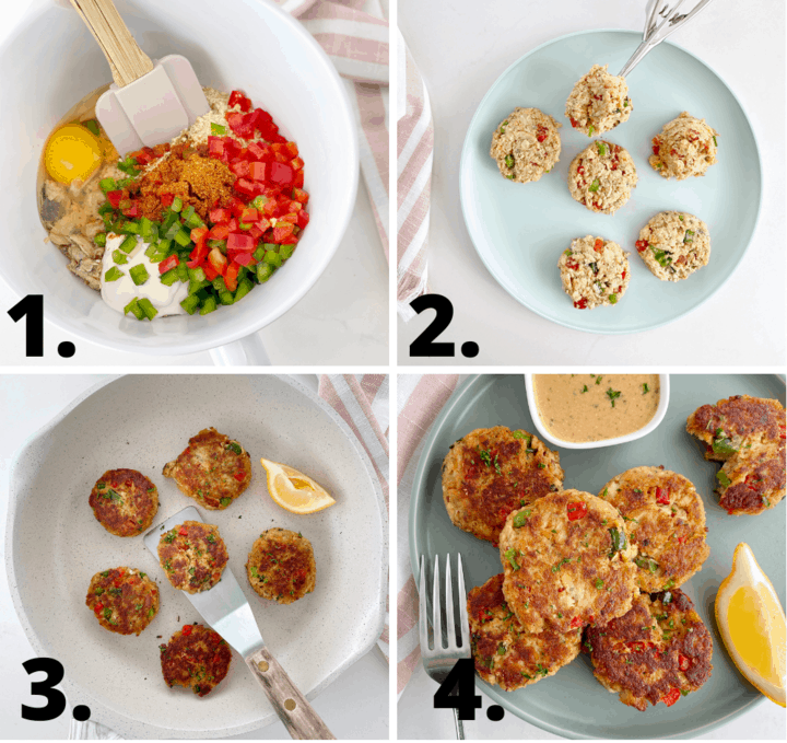how to make salmon croquettes diagram