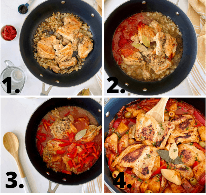 how to diagram to make chicken afritada