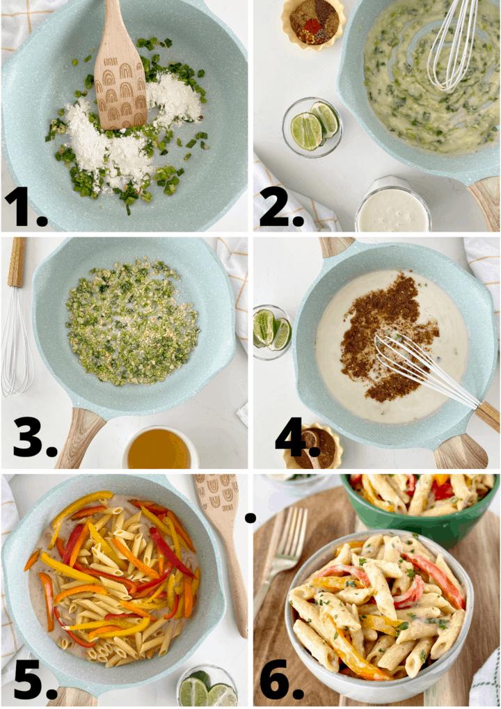 how to make rasta pasta diagram
