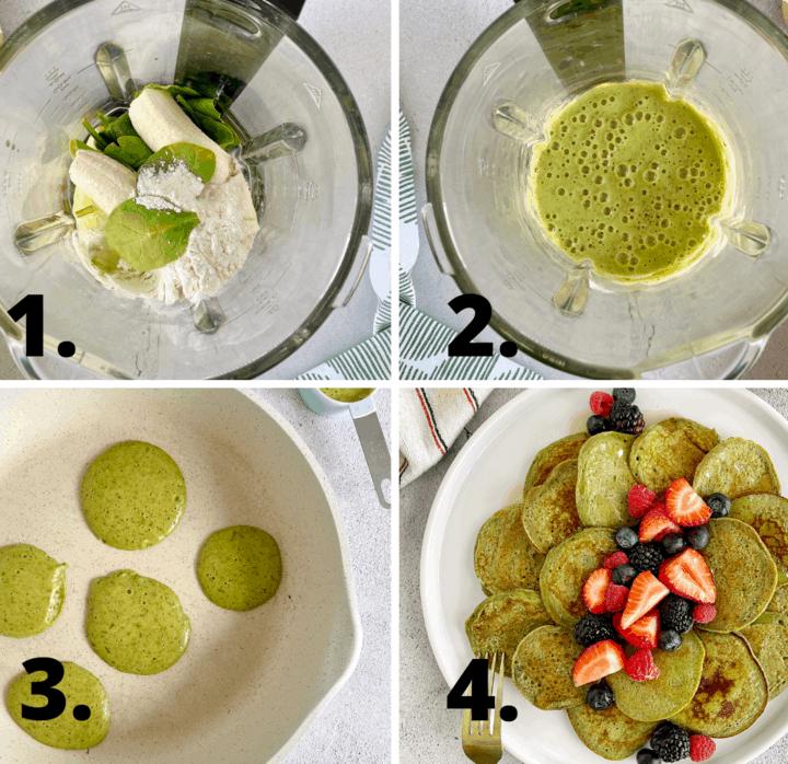 how to make green pancakes diagram