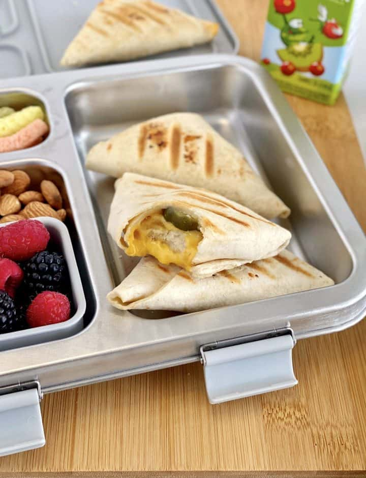 tortilla wraps in a lunch box