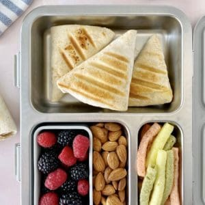 lunch box with tortilla wrap