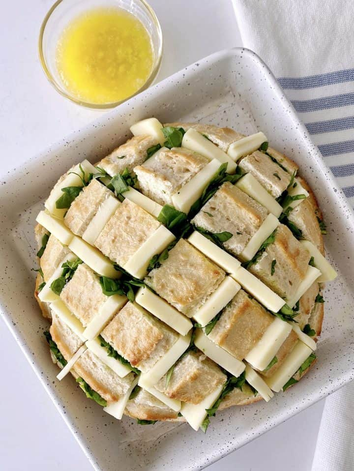 butter next to pull apart bread