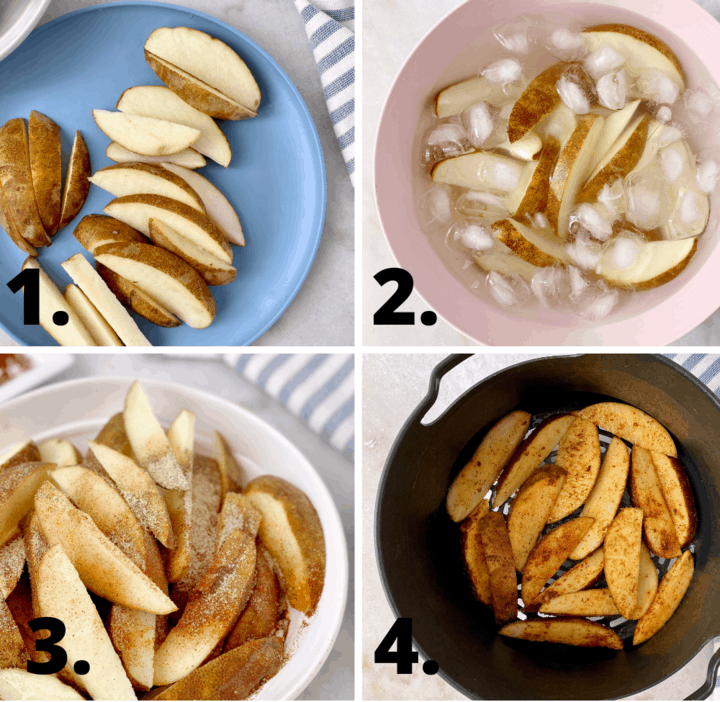 how to make air fryer potato wedges diagram