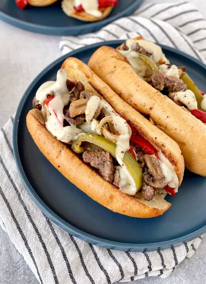 plate of cheesesteaks