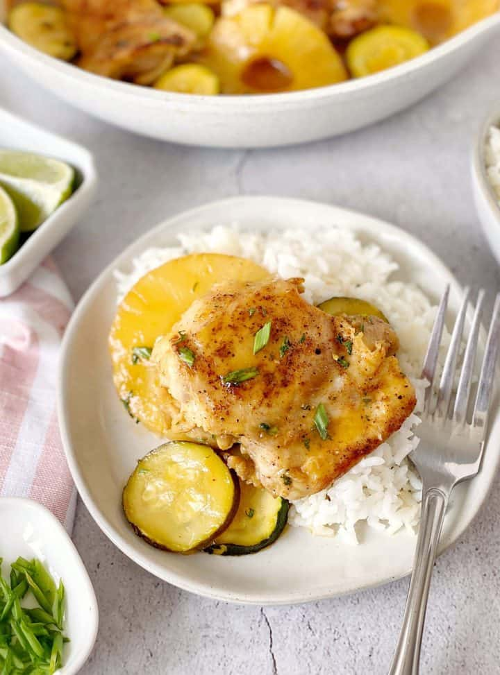 chicken with pineapple and zucchini