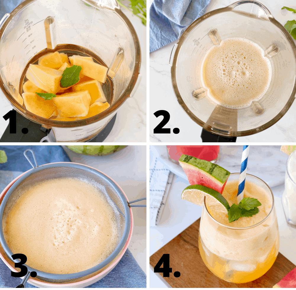 how to make canteloupe agua fresca