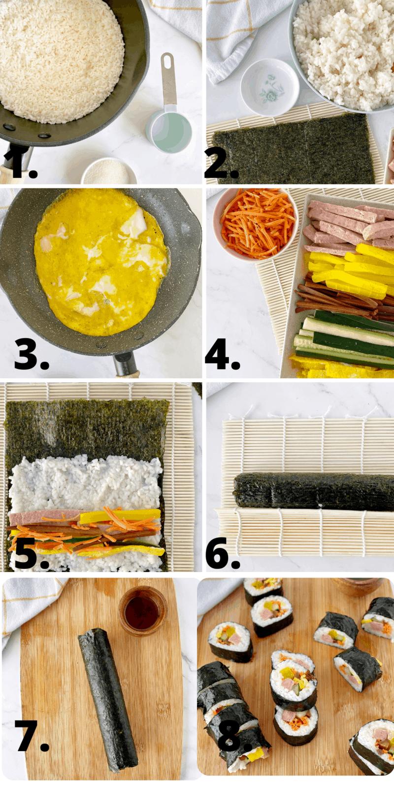 how to make korean kimbap