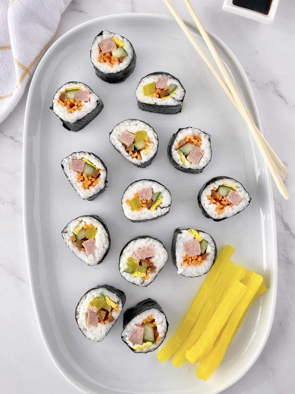 plate of korean sushi