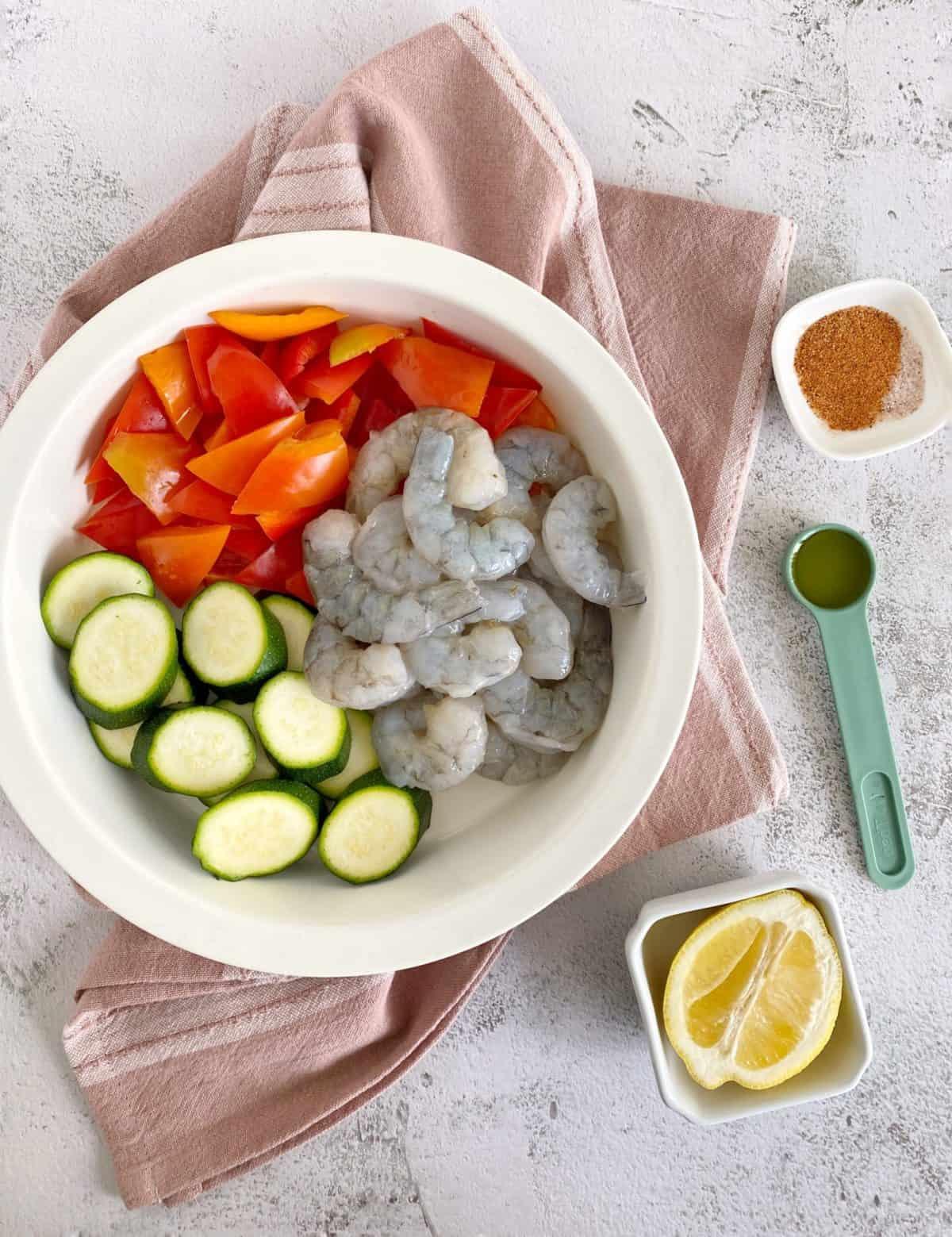 bowl o shrimp and vegetables