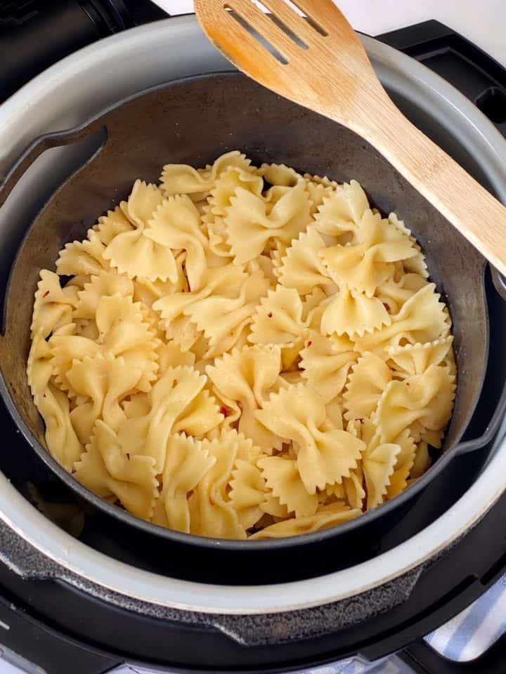 cooked pasta in air fryer
