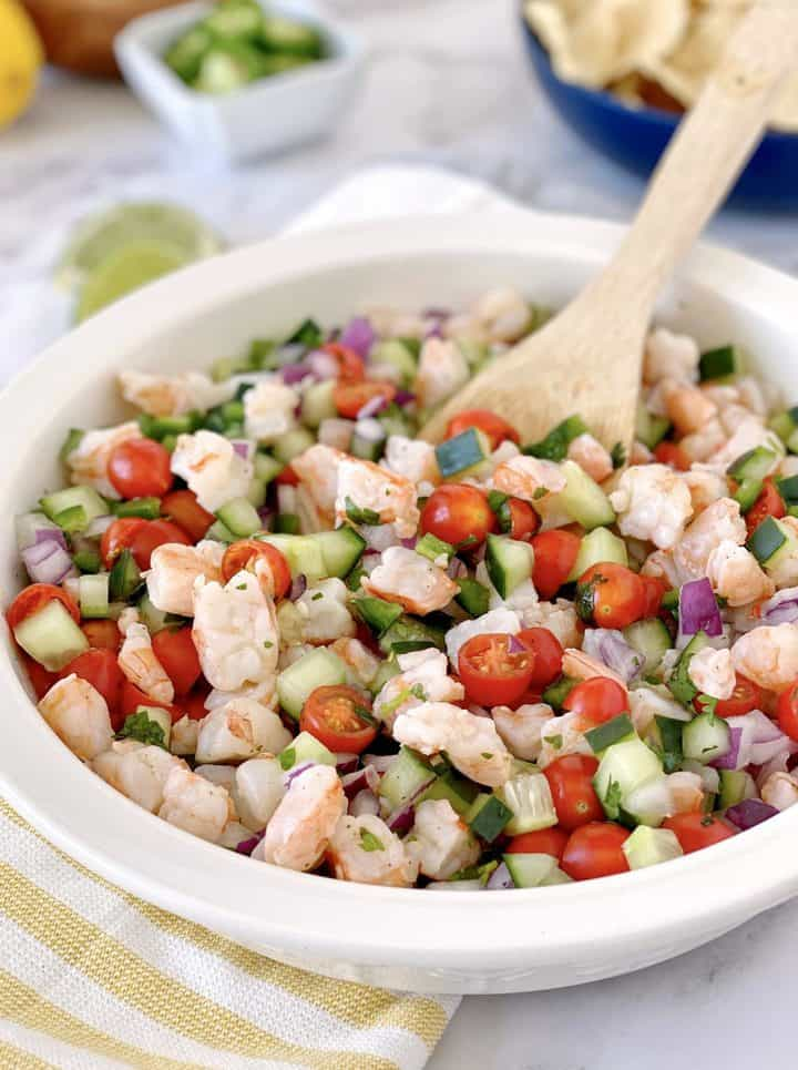 bowl of mixed ceviche