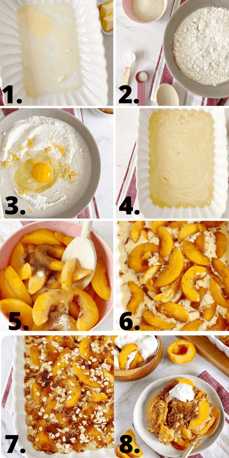 how to make peach cobbler diagram