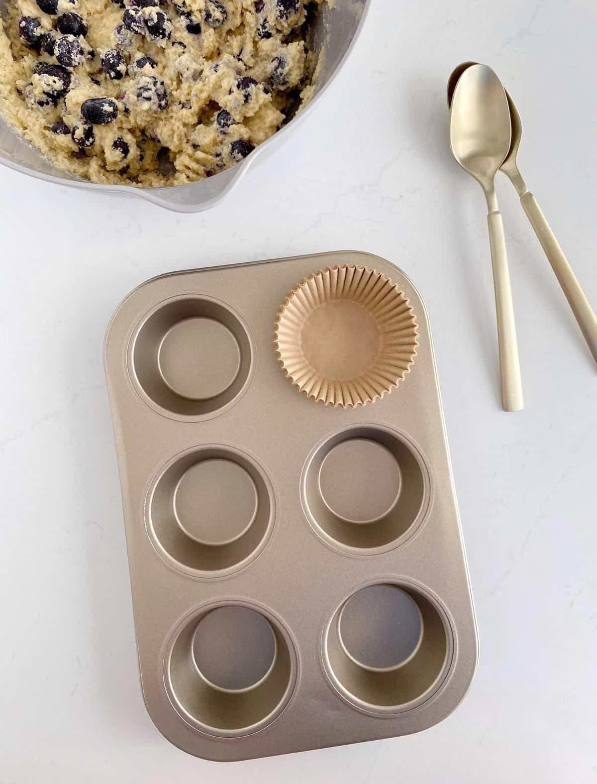 cupcake liner in tin
