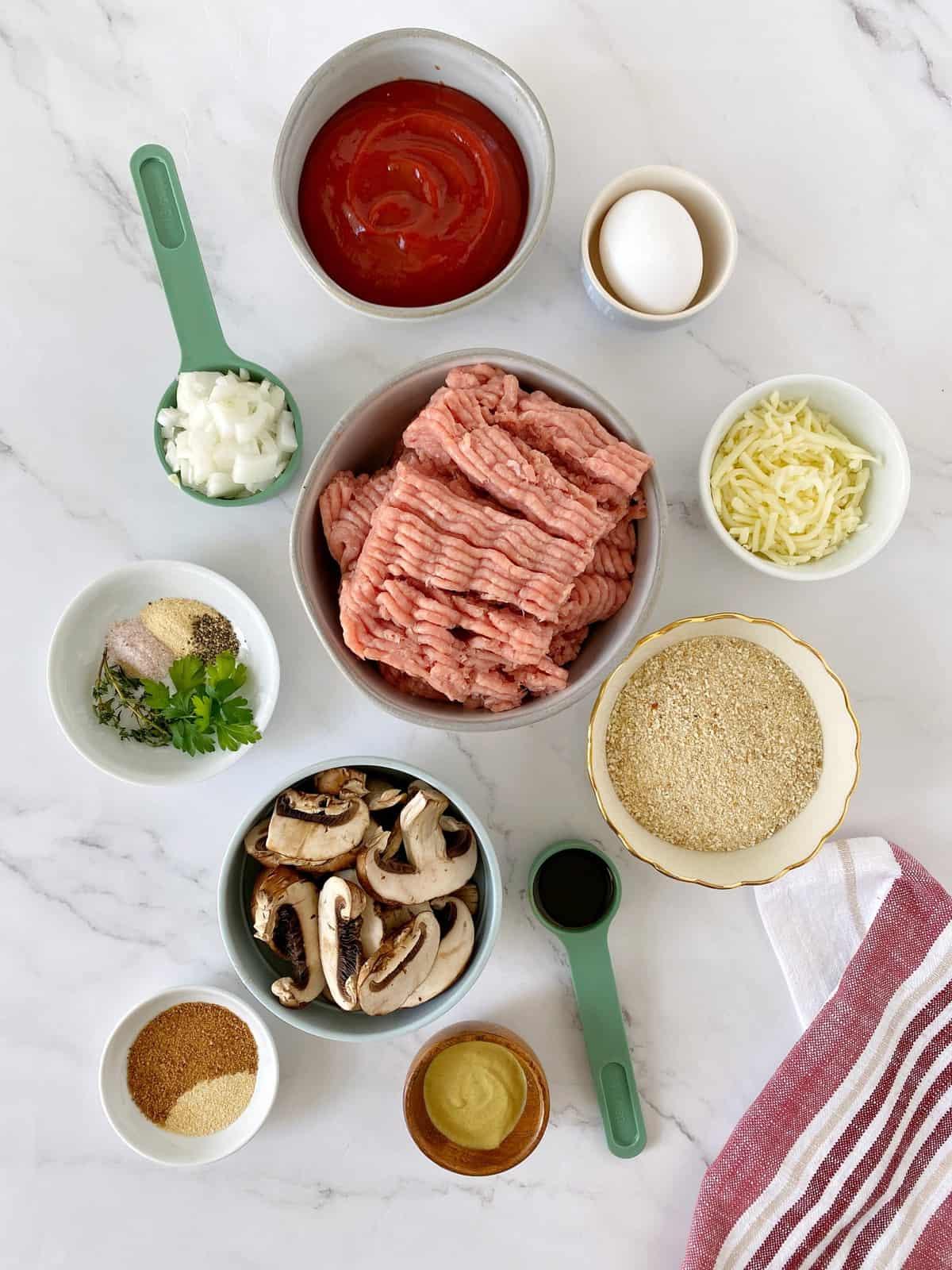 ingredients for veggie meatloaf